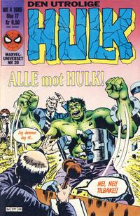 Cover Thumbnail for Hulk (Semic, 1984 series) #4/1985