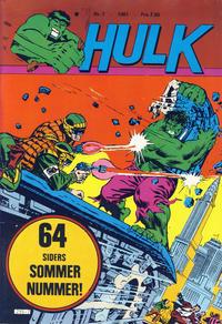 Cover Thumbnail for Hulk (Atlantic Forlag, 1980 series) #7/1981