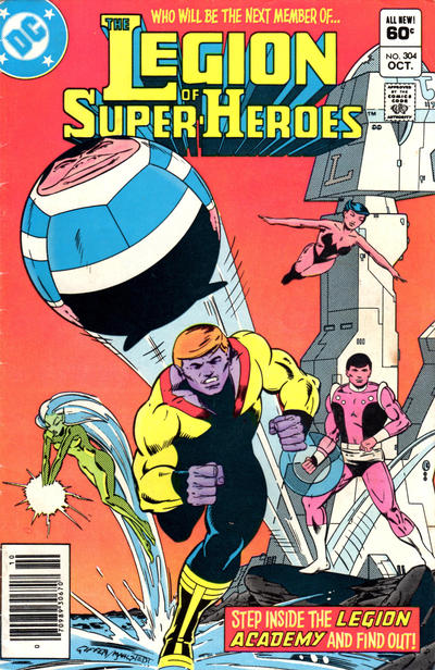 Cover for The Legion of Super-Heroes (DC, 1980 series) #304 [Direct]