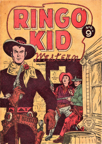 Cover for Ringo Kid (Horwitz, 1955 series) #6