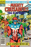 Cover for The Mighty Crusaders (Archie, 1983 series) #9 [Newsstand]