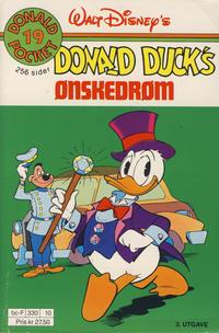 Cover Thumbnail for Donald Pocket (Hjemmet / Egmont, 1968 series) #19 - Donald Ducks ønskedrøm [3. opplag Reutsendelse 330 10]