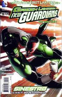 Cover Thumbnail for Green Lantern: New Guardians (DC, 2011 series) #19