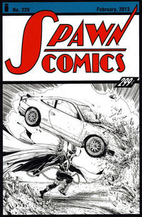 Cover Thumbnail for Spawn (Image, 1992 series) #228 [Cover B - B&W Incentive Variant by Todd McFarlane]
