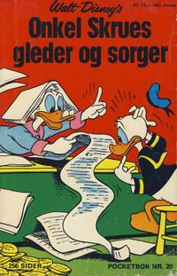 Cover Thumbnail for Donald Pocket (Hjemmet / Egmont, 1968 series) #20 - Onkel Skrues gleder og sorger [1. opplag]