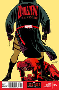 Cover for Daredevil (Marvel, 2011 series) #25 [Many Armors of Iron Man]