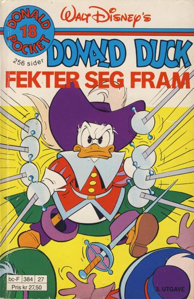 Cover for Donald Pocket (Hjemmet / Egmont, 1968 series) #18 - Donald Duck fekter seg fram [3. opplag]