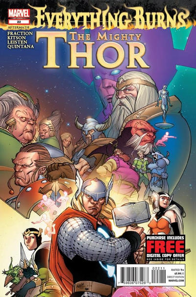 Cover for The Mighty Thor (Marvel, 2011 series) #22 [Simone Bianchi]