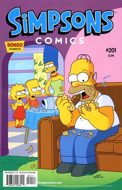 Cover for Simpsons Comics (Bongo, 1993 series) #201