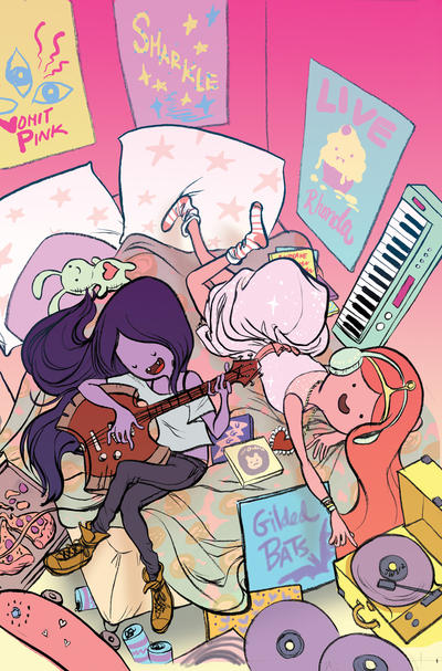 Cover for Adventure Time: Marceline and the Scream Queens (Boom! Studios, 2012 series) #2 [Cover B by Shelli Paroline]
