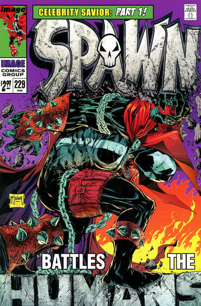 Cover for Spawn (Image, 1992 series) #229 [Cover B - B&W Incentive Variant by Todd McFarlane]