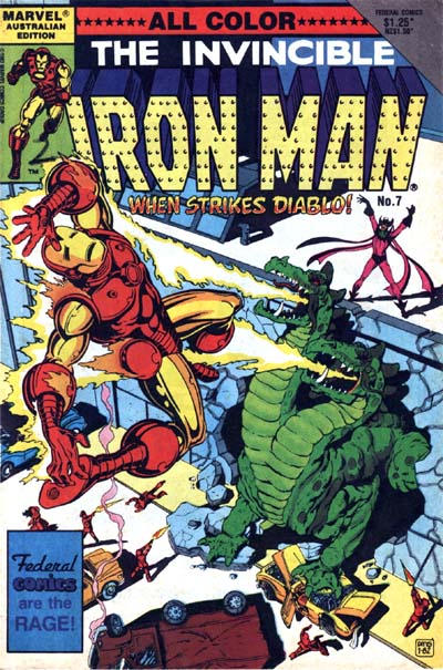 Cover for The Invincible Iron Man (Federal, 1985 ? series) #7