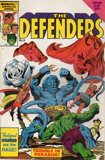 Cover for The Defenders (Federal, 1984 ? series) #8