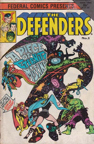 Cover for The Defenders (Federal, 1984 ? series) #1