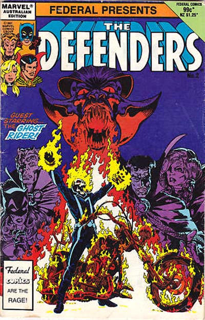 Cover for The Defenders (Federal, 1984 ? series) #2