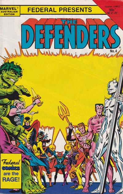 Cover for The Defenders (Federal, 1984 ? series) #4