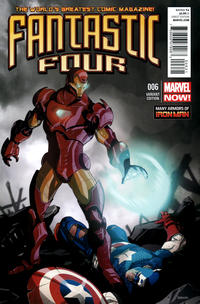 Cover Thumbnail for Fantastic Four (Marvel, 2013 series) #6 [Many Armors Of Iron Man Variant]