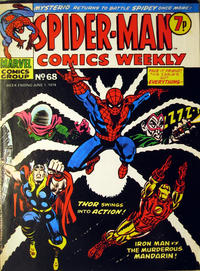 Cover Thumbnail for Spider-Man Comics Weekly (Marvel UK, 1973 series) #68