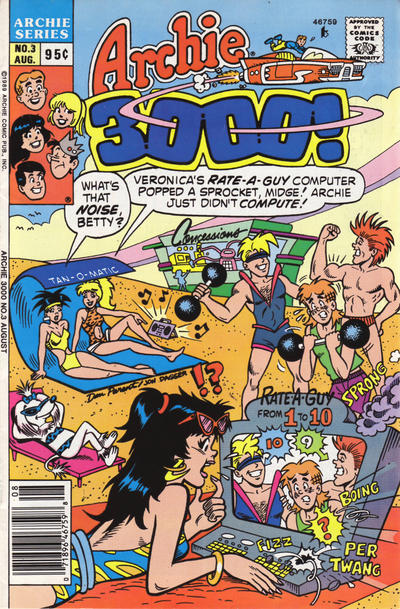 Cover for Archie 3000 (Archie, 1989 series) #3 [Direct]
