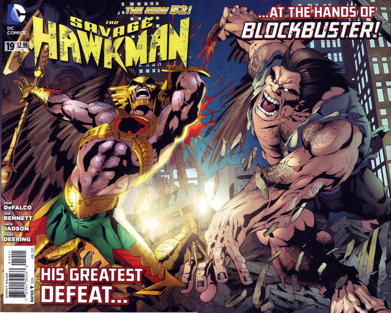Cover for The Savage Hawkman (DC, 2011 series) #19