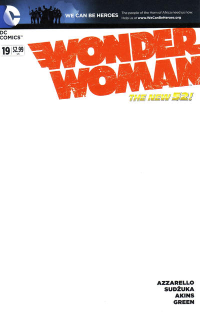Cover for Wonder Woman (DC, 2011 series) #19 [Blank Cover]