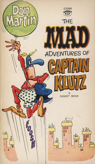 Cover for The Mad Adventures of Captain Klutz (New American Library, 1967 series) #D3088 [1st printing]