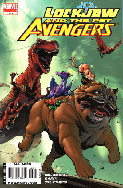 Cover for Lockjaw and the Pet Avengers (Marvel, 2009 series) #2