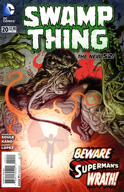 Cover for Swamp Thing (DC, 2011 series) #20