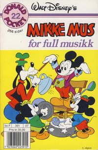 Cover Thumbnail for Donald Pocket (Hjemmet / Egmont, 1968 series) #22 - Mikke Mus for full musikk [3. opplag Reutsendelse 391 07]