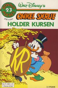 Cover Thumbnail for Donald Pocket (Hjemmet / Egmont, 1968 series) #23 - Onkel Skrue holder kursen [3. opplag]