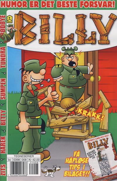Cover for Billy (Hjemmet / Egmont, 1998 series) #8/2013