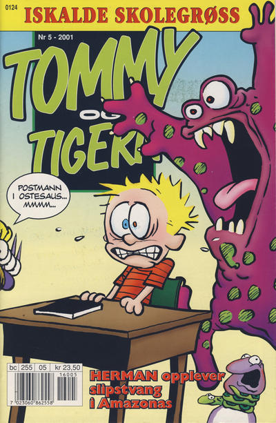 Cover for Tommy og Tigern (Bladkompaniet / Schibsted, 1989 series) #5/2001