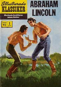 Cover Thumbnail for Illustrerade klassiker (Illustrerade klassiker, 1956 series) #92 - Abraham Lincoln