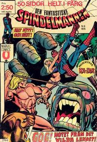 Cover Thumbnail for Spindelmannen (Red Clown, 1974 series) #6/1975