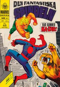 Cover Thumbnail for Marvelserien (Williams Förlags AB, 1967 series) #21