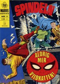 Cover Thumbnail for Marvelserien (Williams Förlags AB, 1967 series) #39