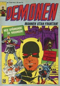 Cover Thumbnail for Demonen (Centerförlaget, 1966 series) #2/1967