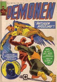 Cover Thumbnail for Demonen (Centerförlaget, 1966 series) #4/1967