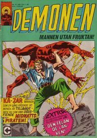 Cover Thumbnail for Demonen (Centerförlaget, 1966 series) #10/1967