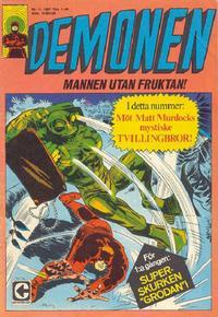 Cover Thumbnail for Demonen (Centerförlaget, 1966 series) #11/1967
