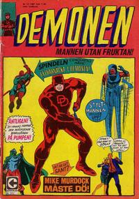 Cover Thumbnail for Demonen (Centerförlaget, 1966 series) #12/1967