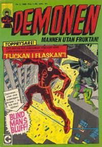 Cover Thumbnail for Demonen (Centerförlaget, 1966 series) #2/1968