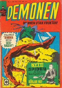 Cover Thumbnail for Demonen (Centerförlaget, 1966 series) #3/1968