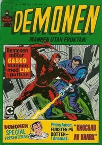 Cover Thumbnail for Demonen (Centerförlaget, 1966 series) #5/1968