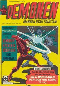 Cover Thumbnail for Demonen (Centerförlaget, 1966 series) #6/1968