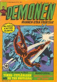 Cover Thumbnail for Demonen (Centerförlaget, 1966 series) #7/1968