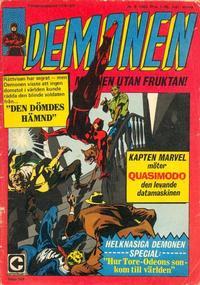 Cover Thumbnail for Demonen (Centerförlaget, 1966 series) #8/1969