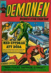 Cover Thumbnail for Demonen (Centerförlaget, 1966 series) #11/1969