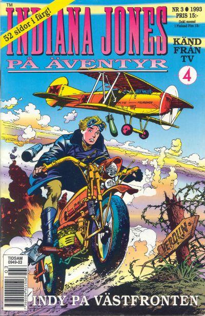 Cover for Indiana Jones på äventyr (Semic, 1993 series) #3/1993