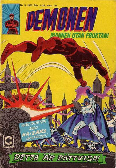 Cover for Demonen (Centerförlaget, 1966 series) #5/1967